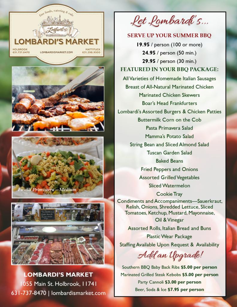 Holbrook Market BBQ Package
