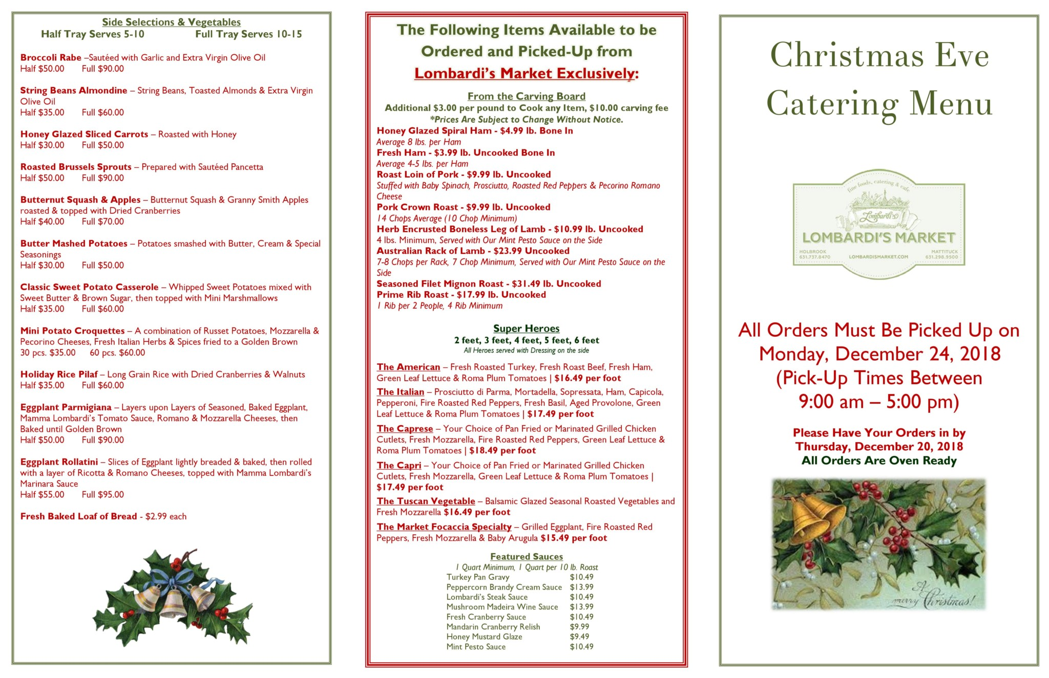 Holiday Catering Long Island   Lombardi\'s Market